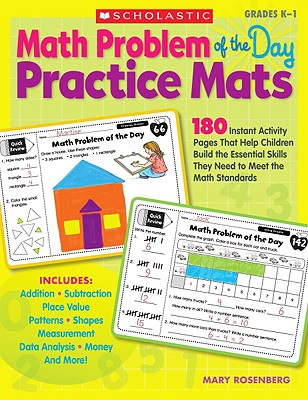 Scholastic Teaching Resources Math Problem of the Day Practice Mats, Grades K-1 by Rosenberg, Mary [Paperback] at Sears.com